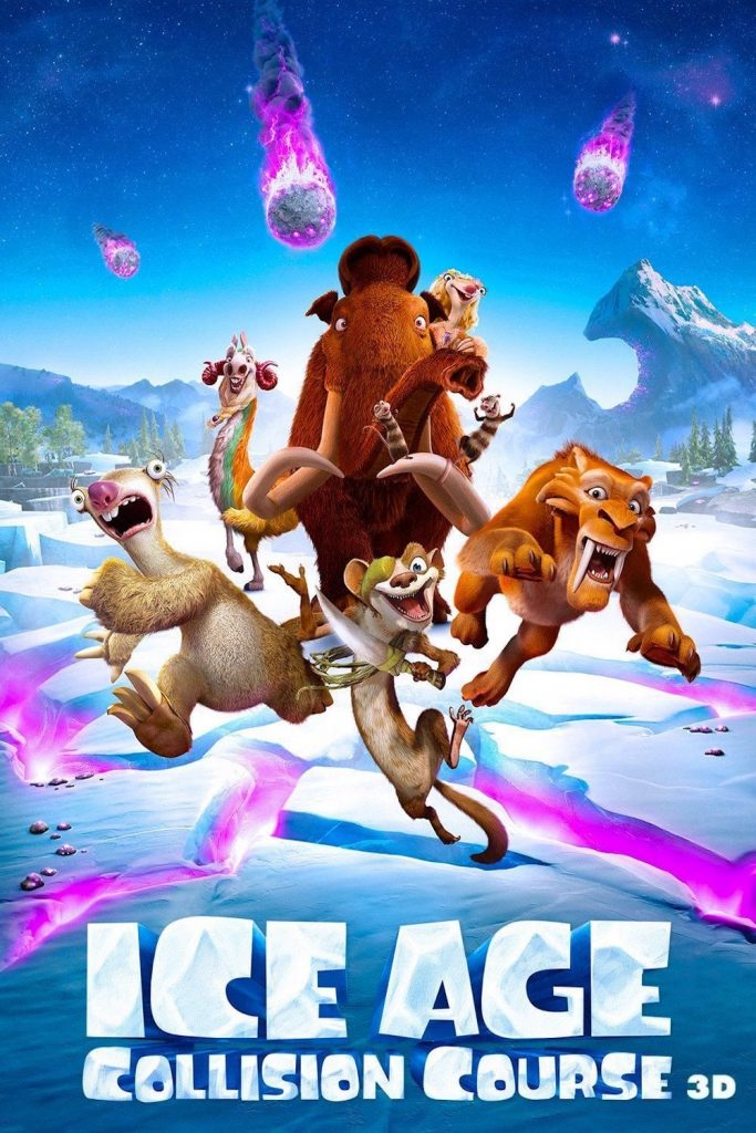 ice age poster part 3 2016 colision course high quality HD printable wallpapers all characters meteor shower