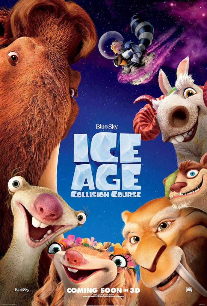 ice age poster part 3 2016 colision course high quality HD printable wallpapers all the main characters