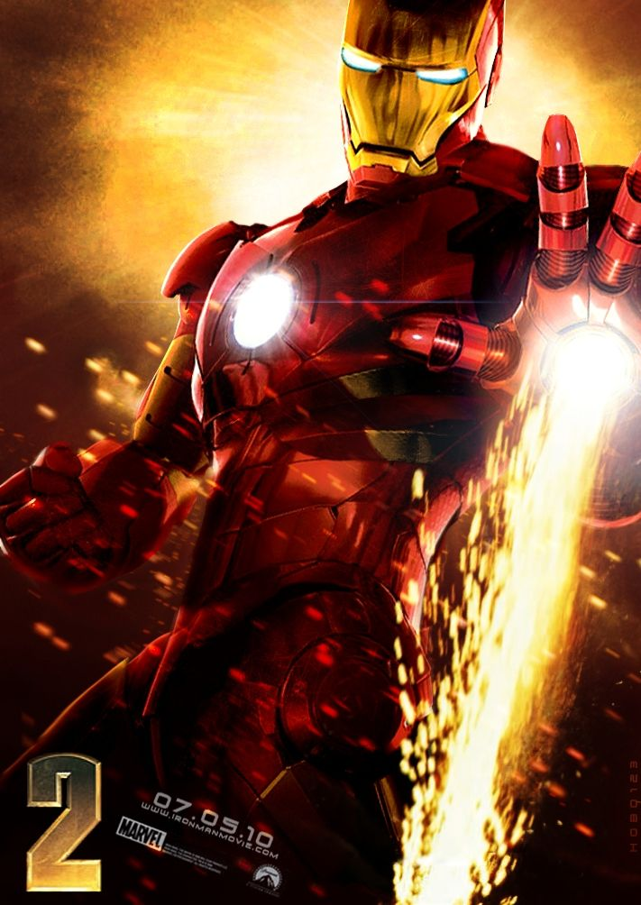 iron man poster high quality HD printable wallpapers 2010 iron man 2 fire from the fist