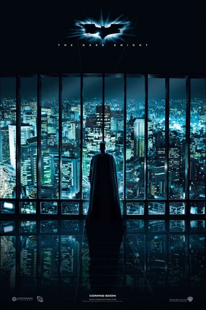 the dark knight poster high quality HD printable wallpapers 2008 gotham city view from batcave