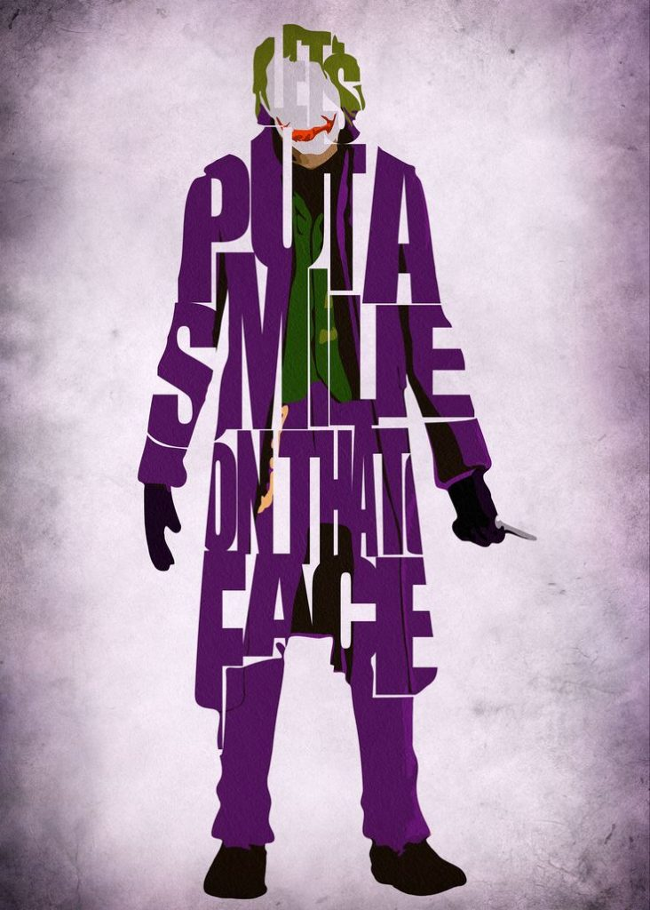 the dark knight poster high quality HD printable wallpapers 2008 joker quote put a smile on that face