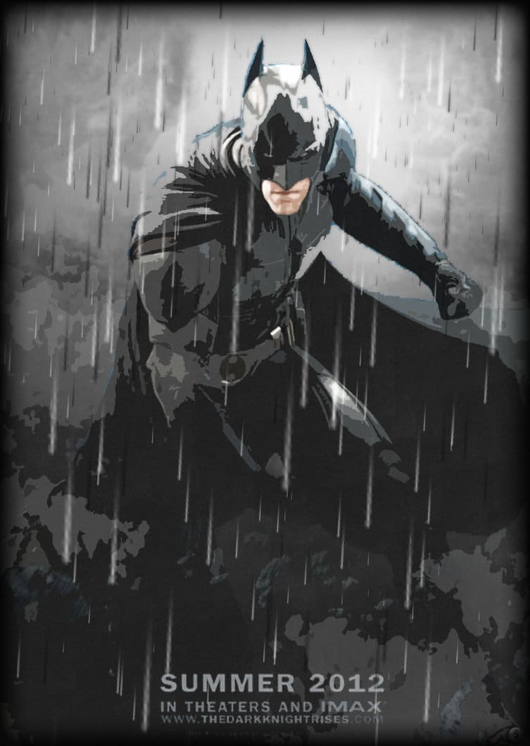 the dark knight poster high quality HD printable wallpapers 2008 art animated batman in action signature