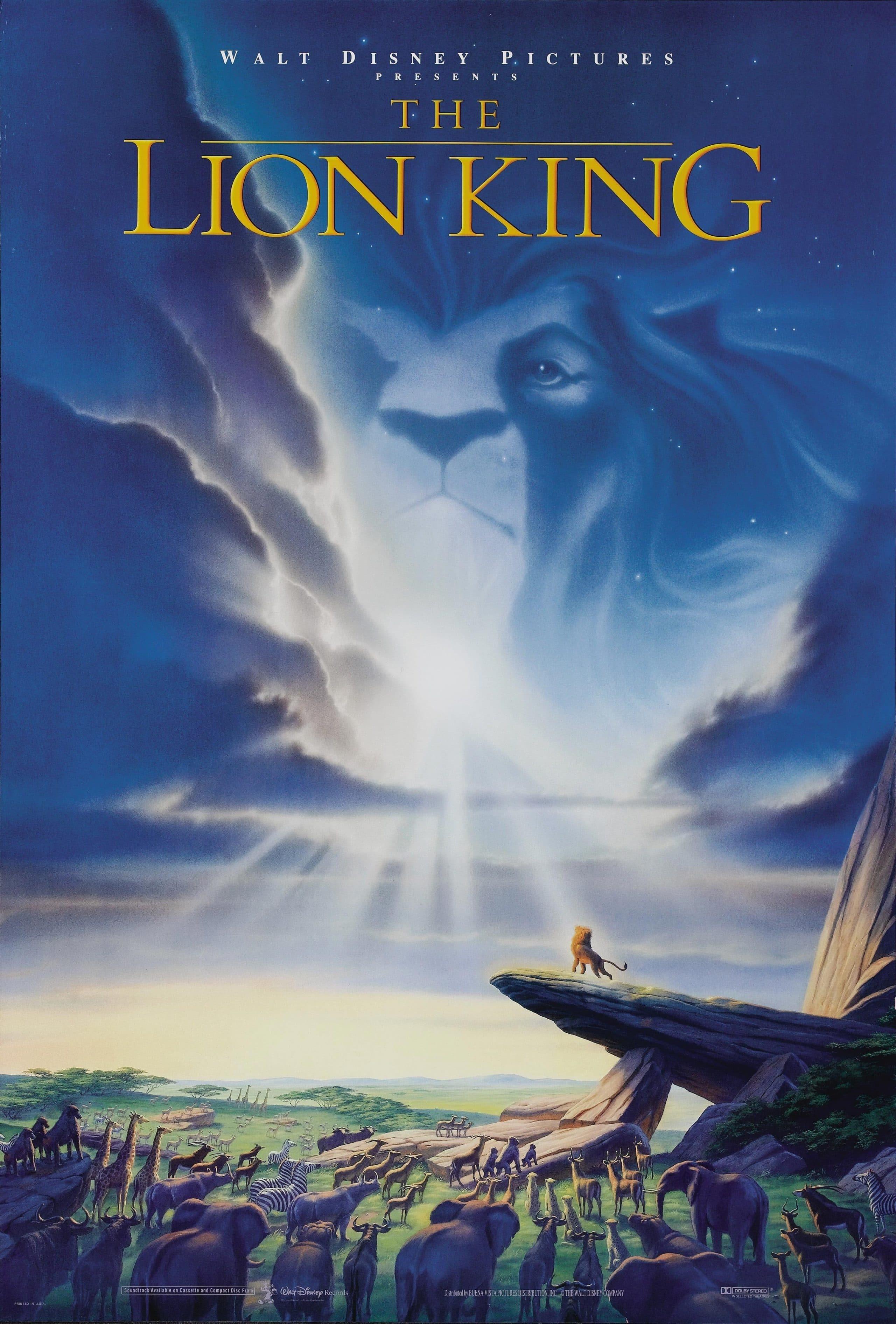 the lion king poster 1 1994 high quality HD printable wallpapers pride land simba musafa on the rock