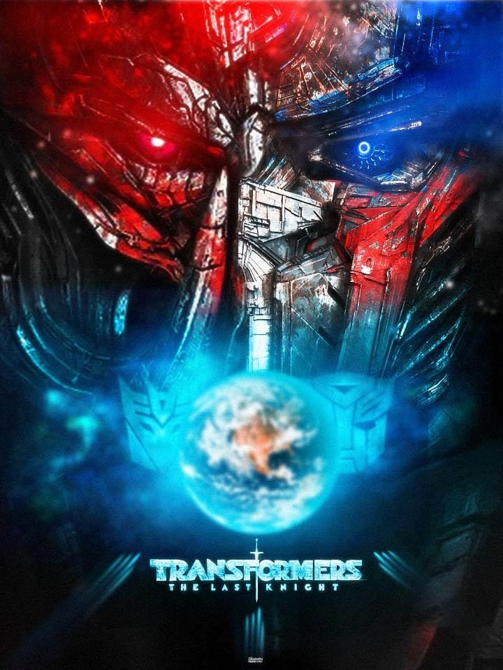 the last knight poster high quality HD printable wallpapers 2017 megatron and optimus prime faces