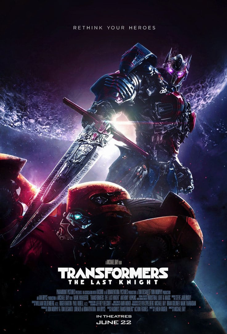 the last knight poster high quality HD printable wallpapers 2017 optimus prime killing bumblebee