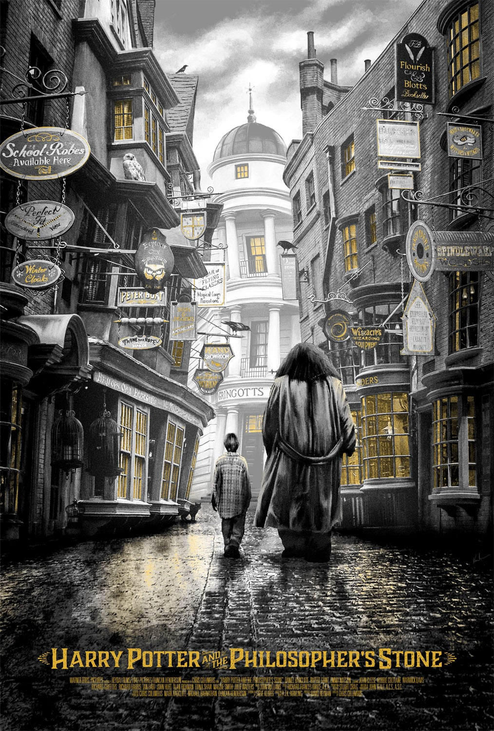 harry potter poster the philosophers stone high quality HD printable wallpapers art magical streets hegrid and harry