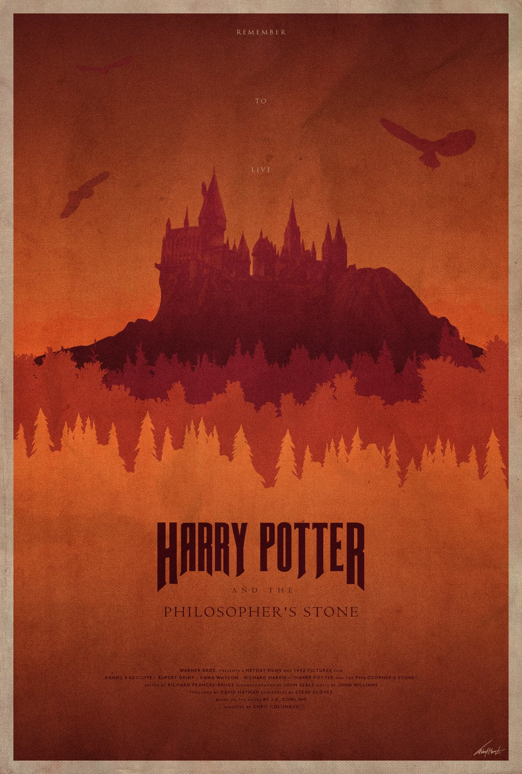 harry potter poster the philosophers stone high quality HD printable wallpapers art cartoon animated