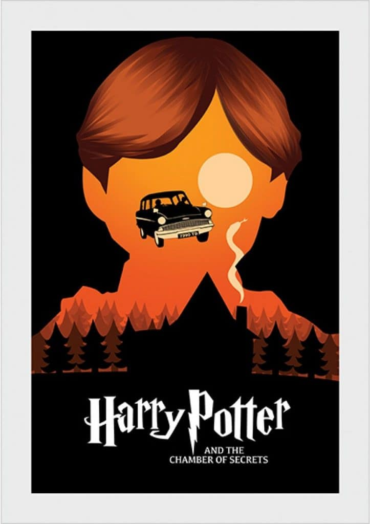 harry potter poster the chamber of secrets 2002 high quality HD printable wallpapers the flying car scene