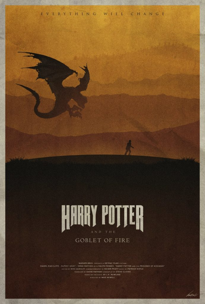 harry potter poster goblet of fire 2005 high quality HD printable wallpapers dragon and harry