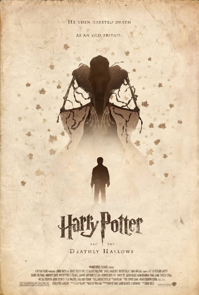 harry potter poster the deathly hallows part 1 2010 high quality HD printable wallpapers art animated cartoon black and white