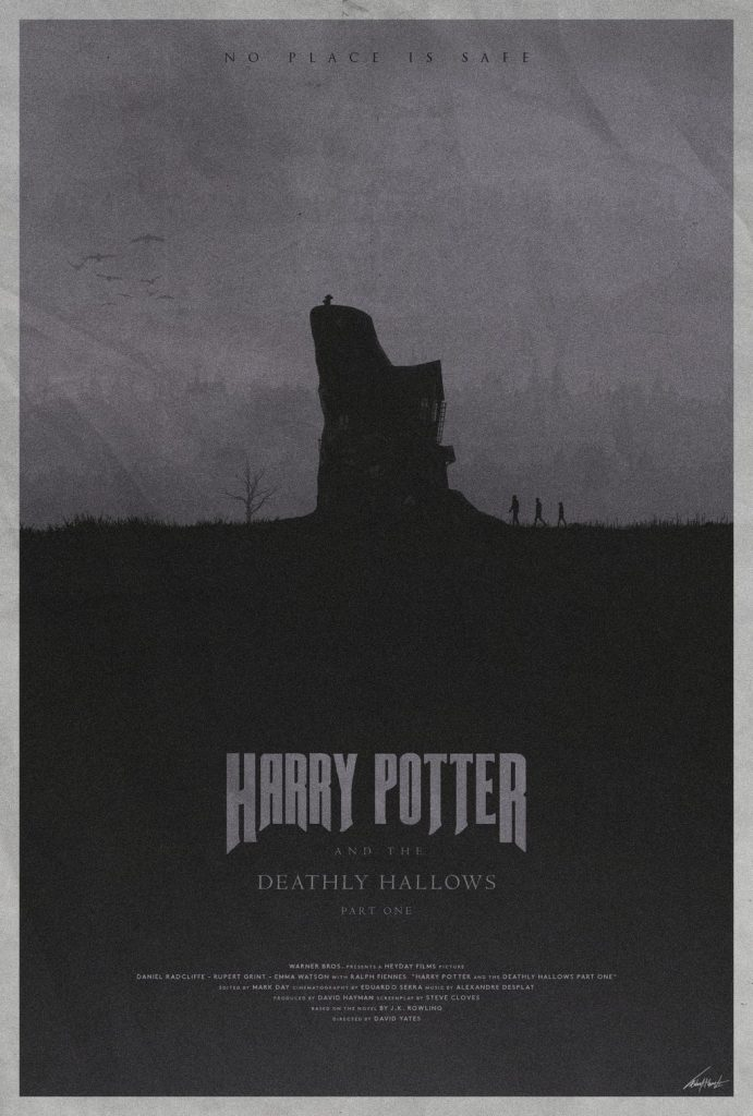 harry potter poster the deathly hallows part 1 2010 high quality HD printable wallpapers dark old wesley house art