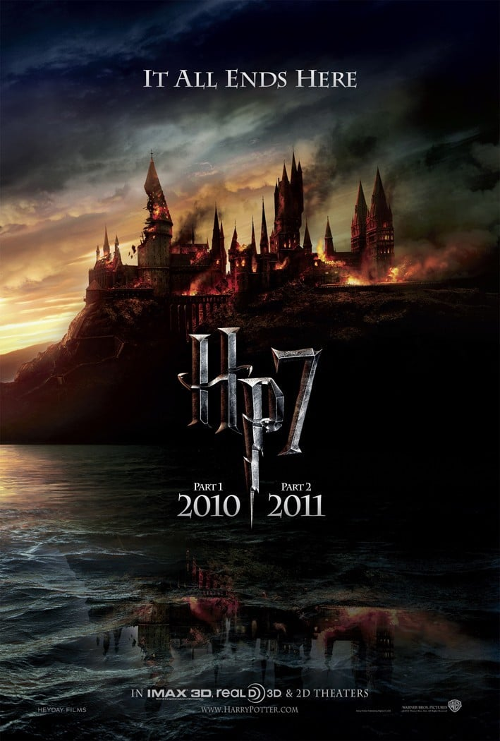 harry potter poster the deathly hallows part 1 2010 high quality HD printable wallpapers destroyed hogwarts