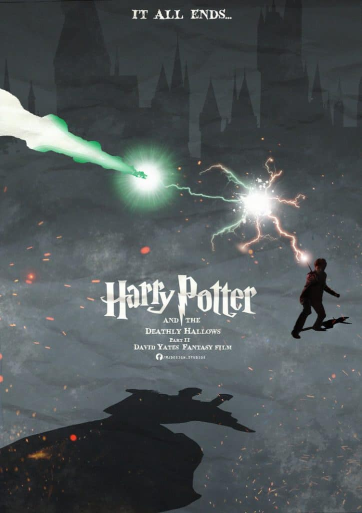 harry potter poster the deathly hallows part 2 2011 high quality HD printable wallpapers harry potter vs voldemort scene