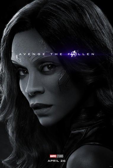 Gamora Endgame Poster