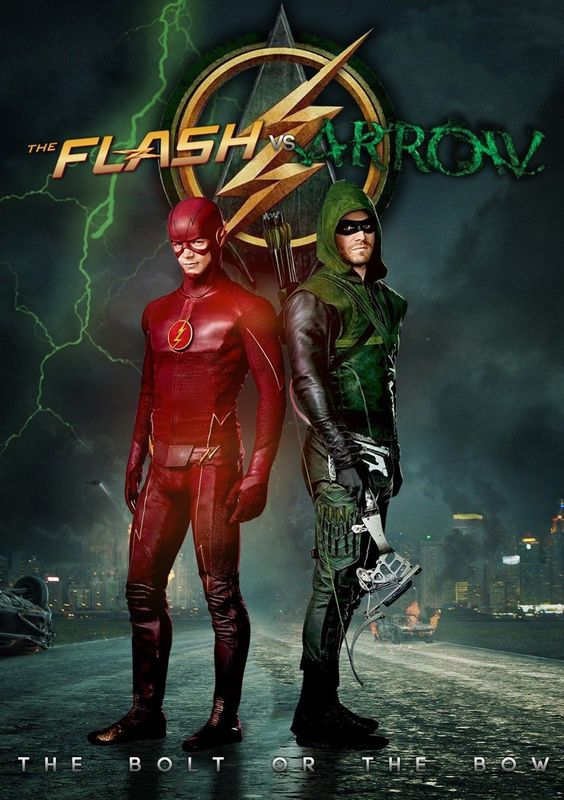 arrow and flash poster