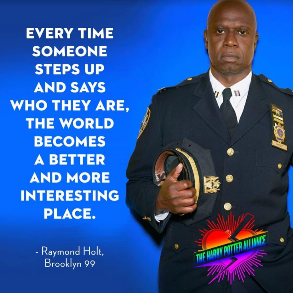 Famous lines by captain holt!