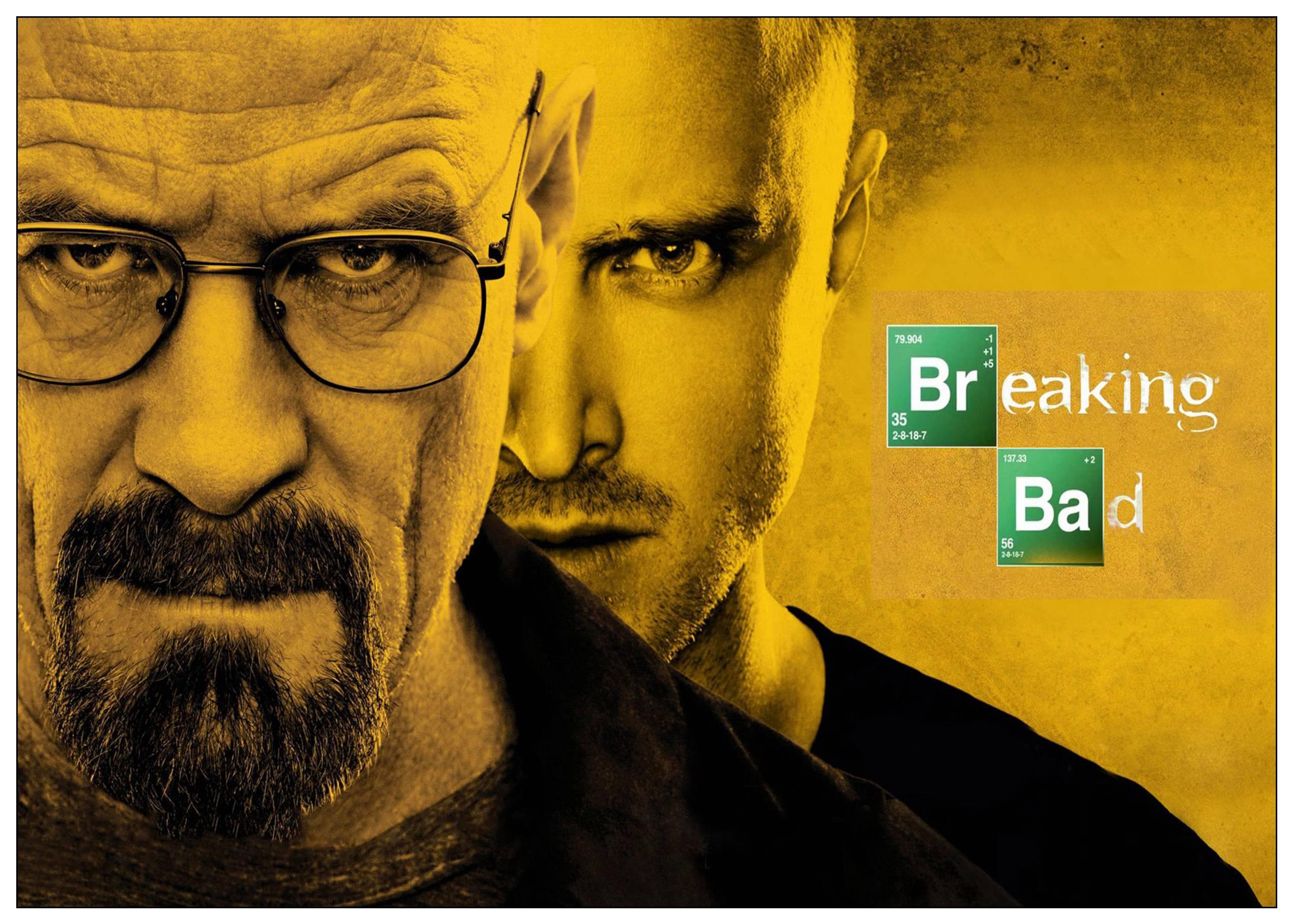 breaking bad poster of Walter and Jesse