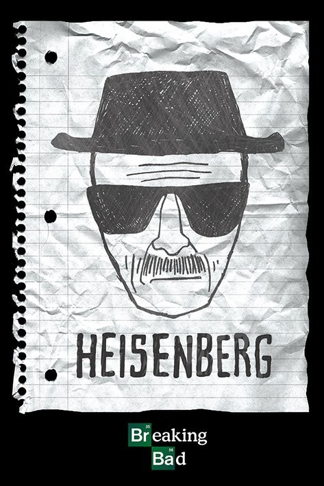 breaking bad poster of heisenberg Walter's fake name