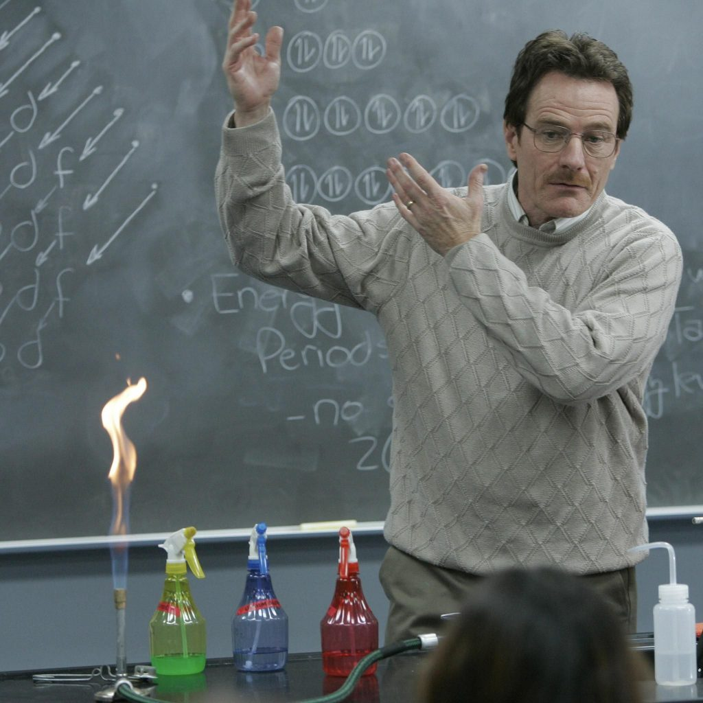 breaking bad Walter white chemistry teacher