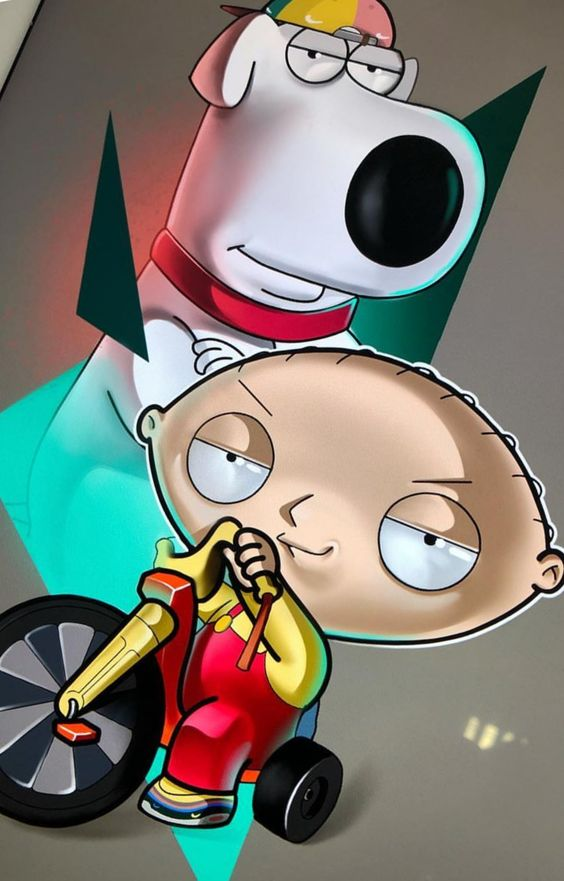 family guy image of brain and stewie