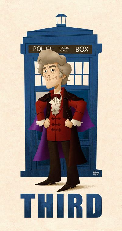 doctor who poster of third doctor
