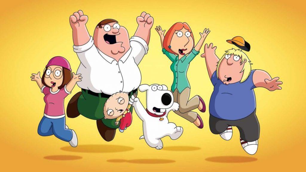 family guy poster of full family