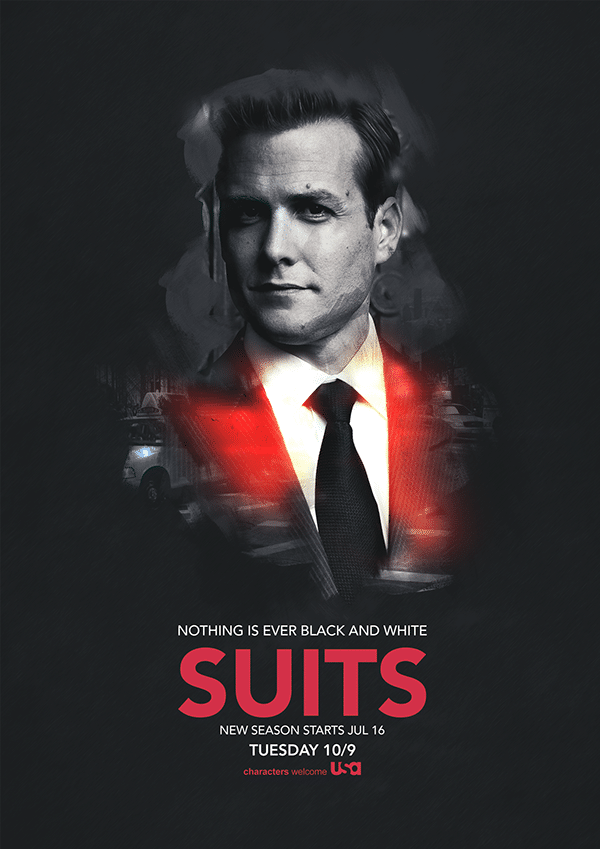 Lead protagonist in Suits- Harvey Specter.