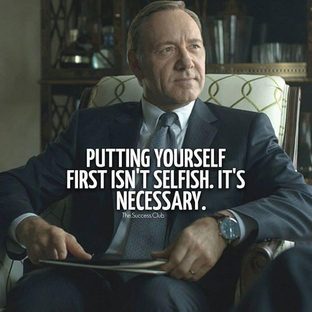 house of cards dialogue on priority by Frank