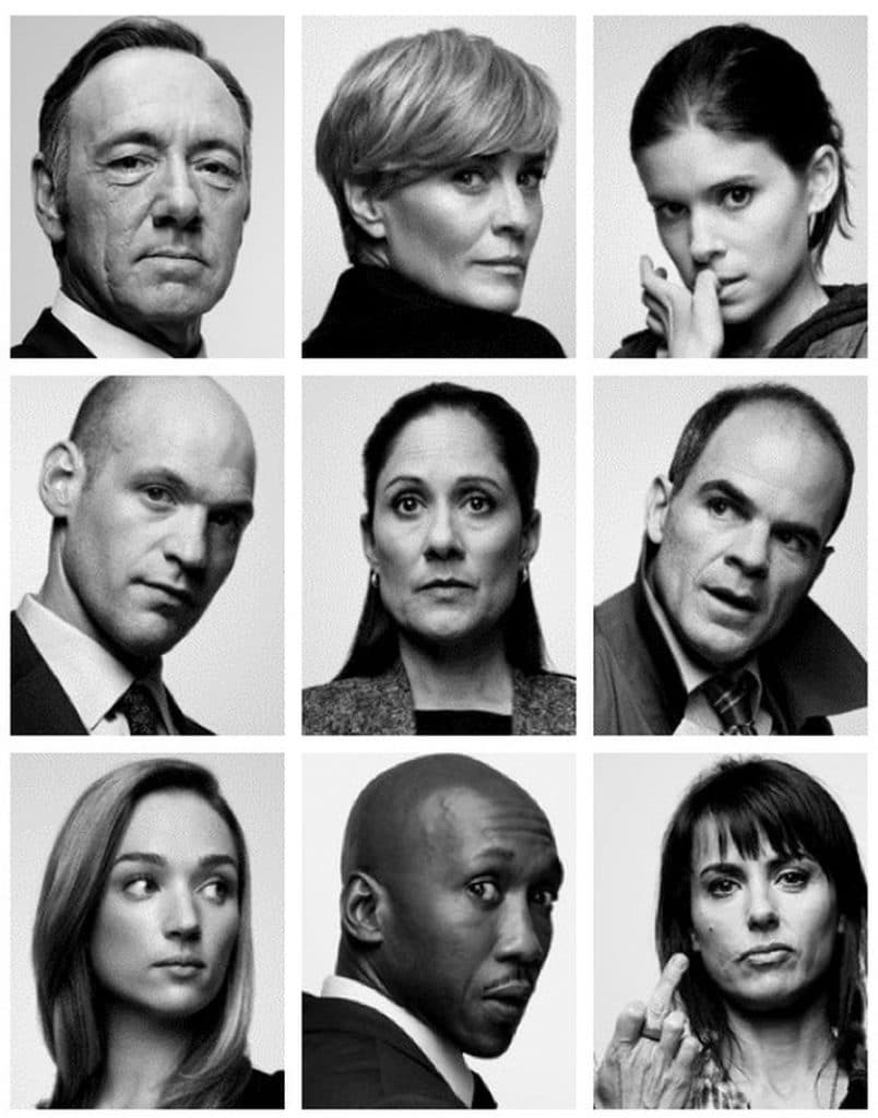house of cards whole cast