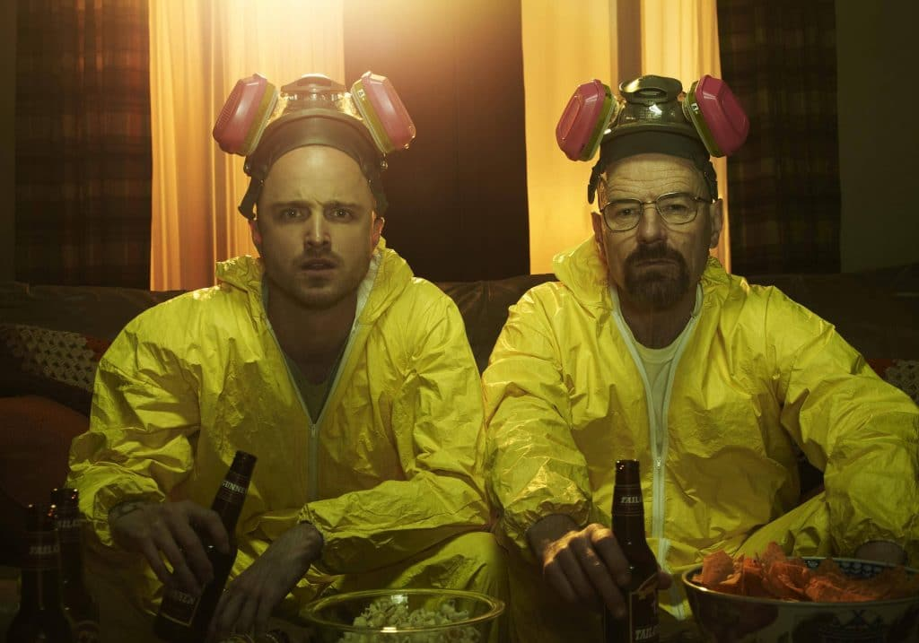 breaking bad Walter and Jesse in lab