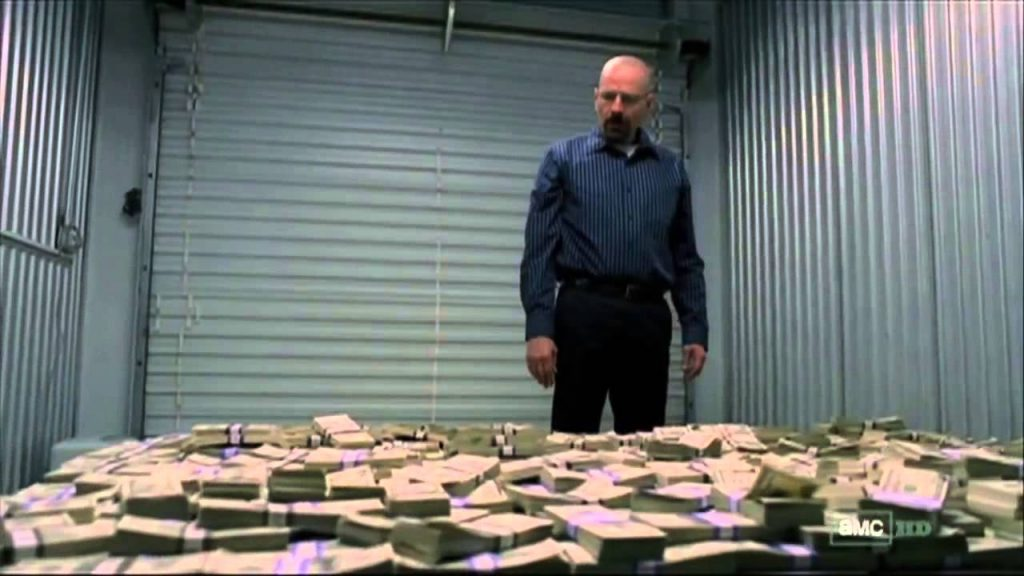 breaking bad Walter and his money