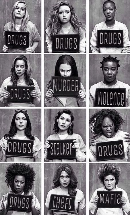 orange is the new black cool poster of every character