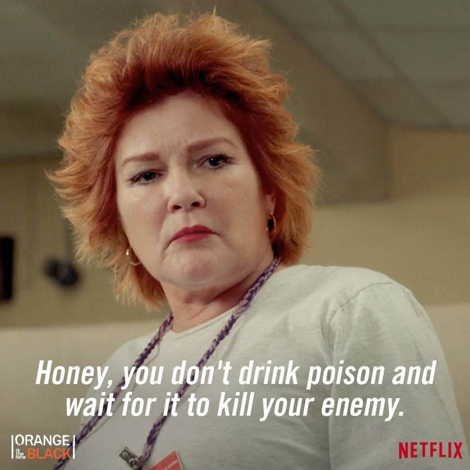 orange is the new black Red's famous dialogue