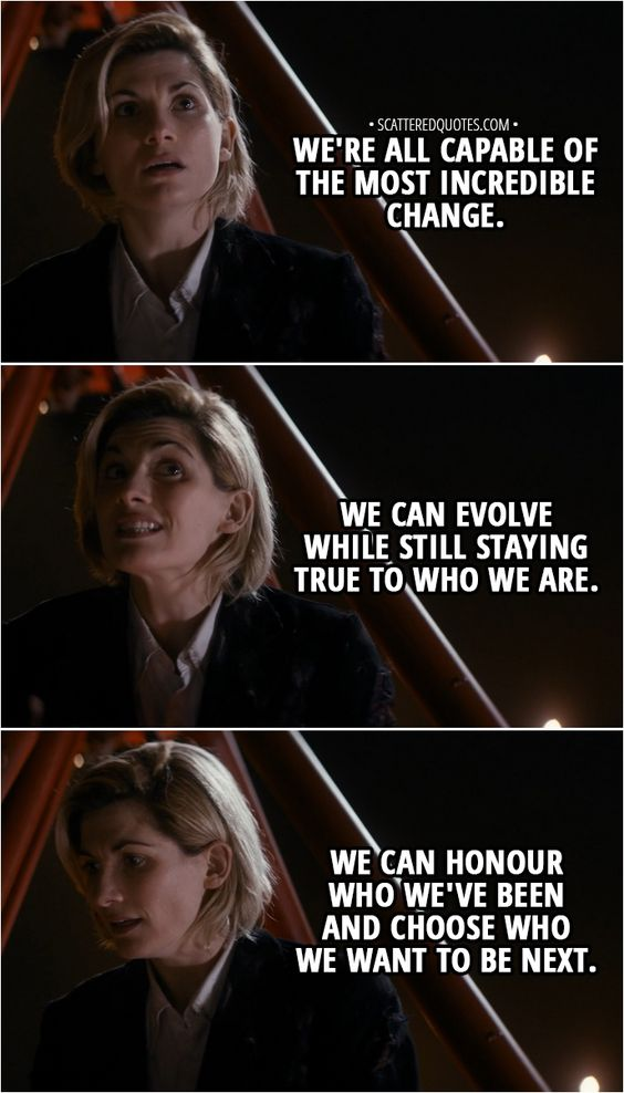 doctor who famous quote of jodie whitetaker current doctor