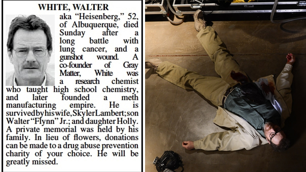 breaking bad Walter's death last episode