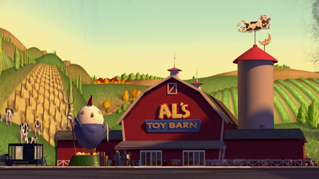 toy story 2 image of Al's toy barn toy shop