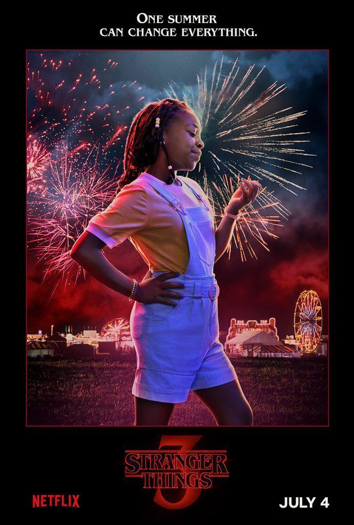 stranger things season 3 poster of Erica