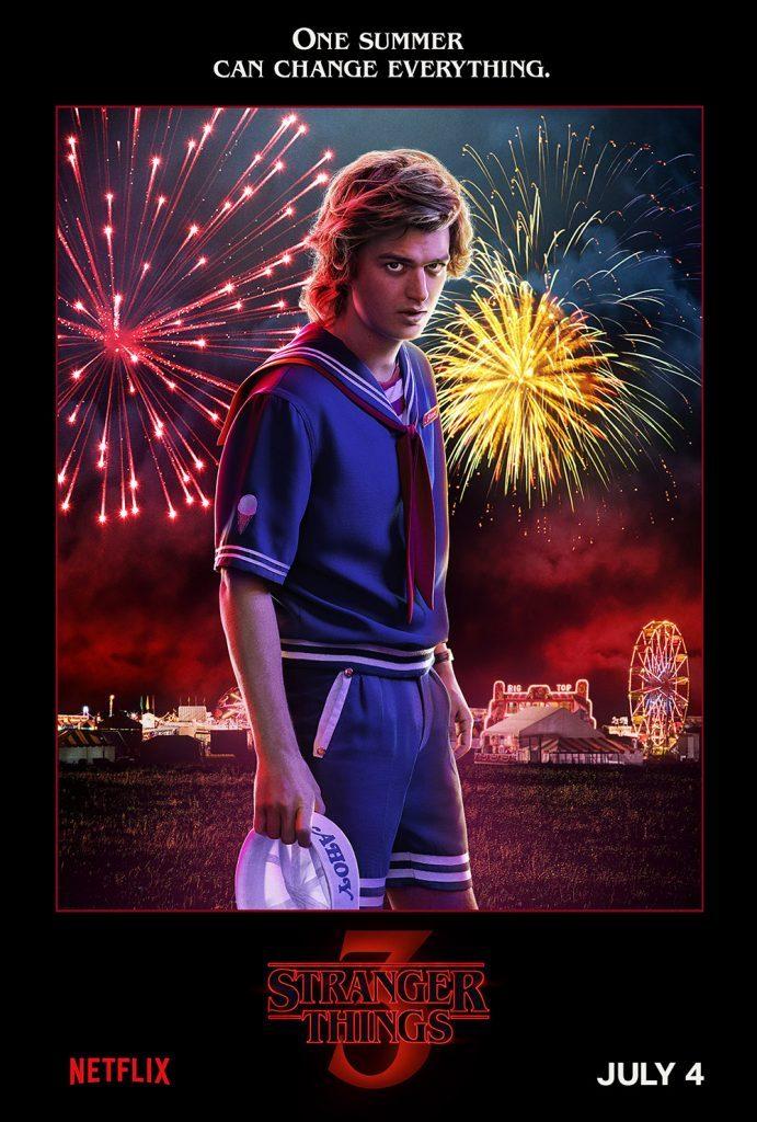 stranger things season 3 poster of Steve Harrington