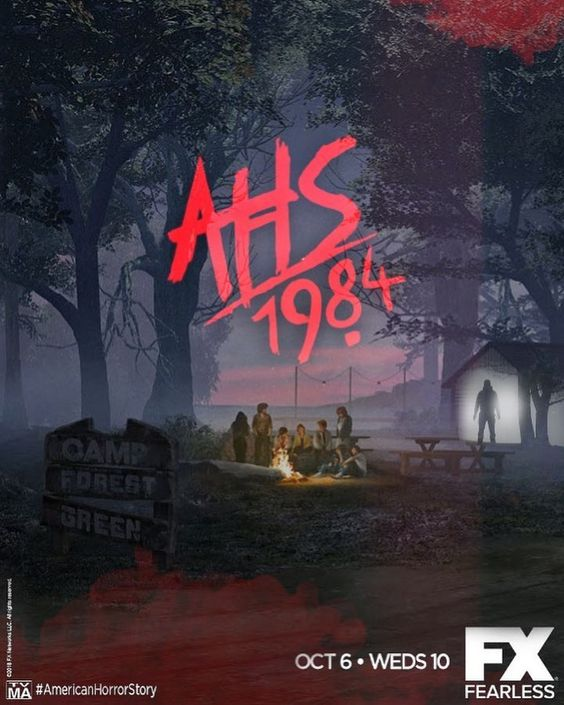 american horror story poster of 1984