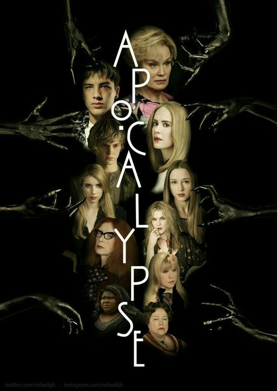 american horror story poster of apocalypse all cast