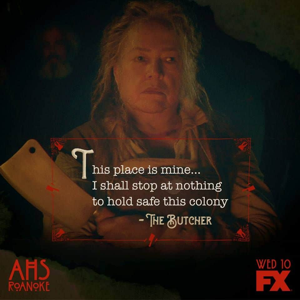 american horror story poster of the butcher famous dialogue