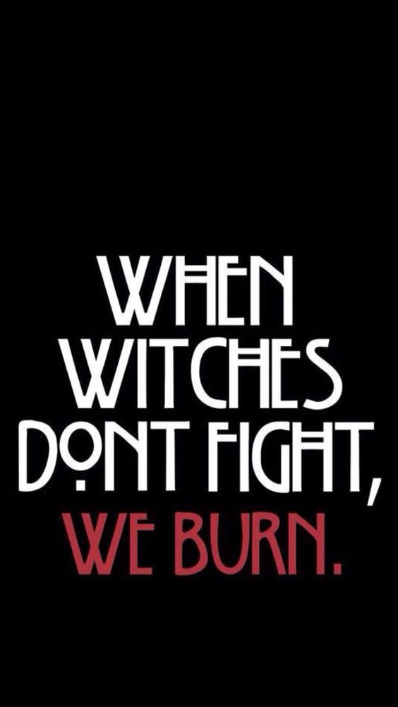 american horror story poster of coven famous quote