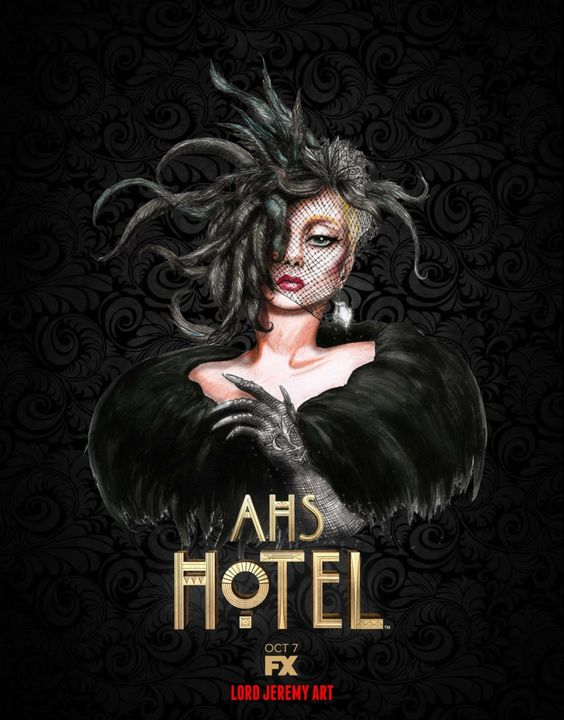 american horror story poster of season 5 hotel and lady gaga