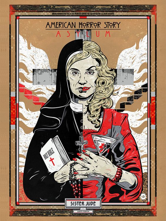 american horror story poster of sister jude