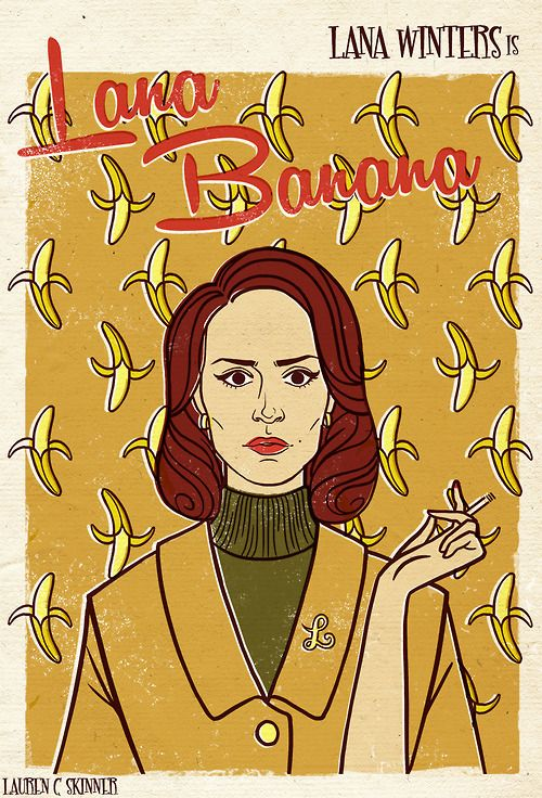 american horror story poster of lana winters