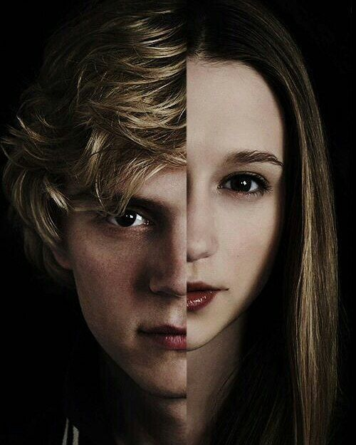 american horror story poster of tate and violet