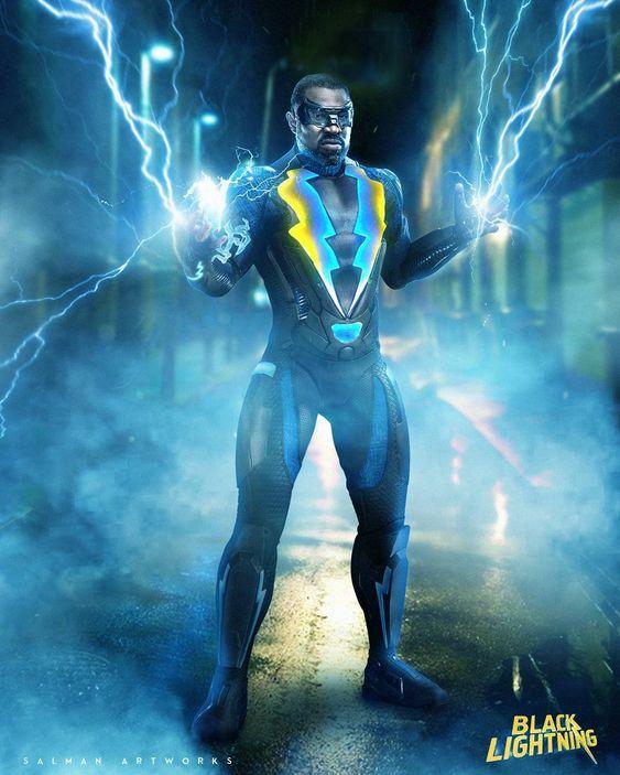 black lightning image of main character