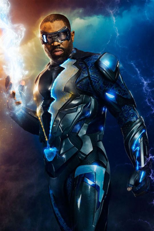 black lightning character poster