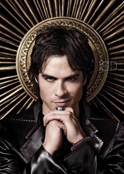 damon vampire poster