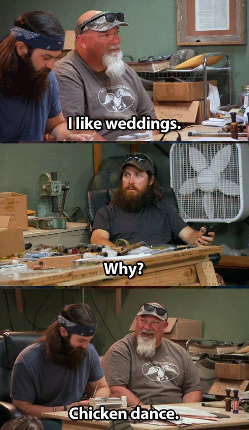 duck dynasty funny dialogue on chicken dance